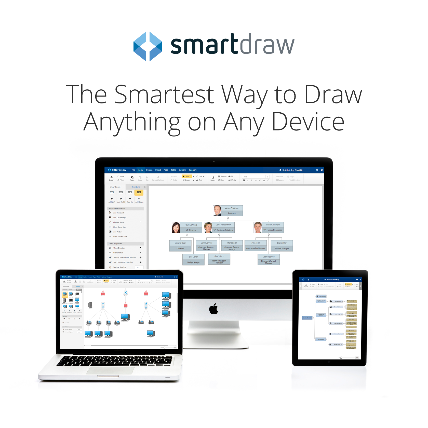 SmartDraw Cloud on Mac with logo