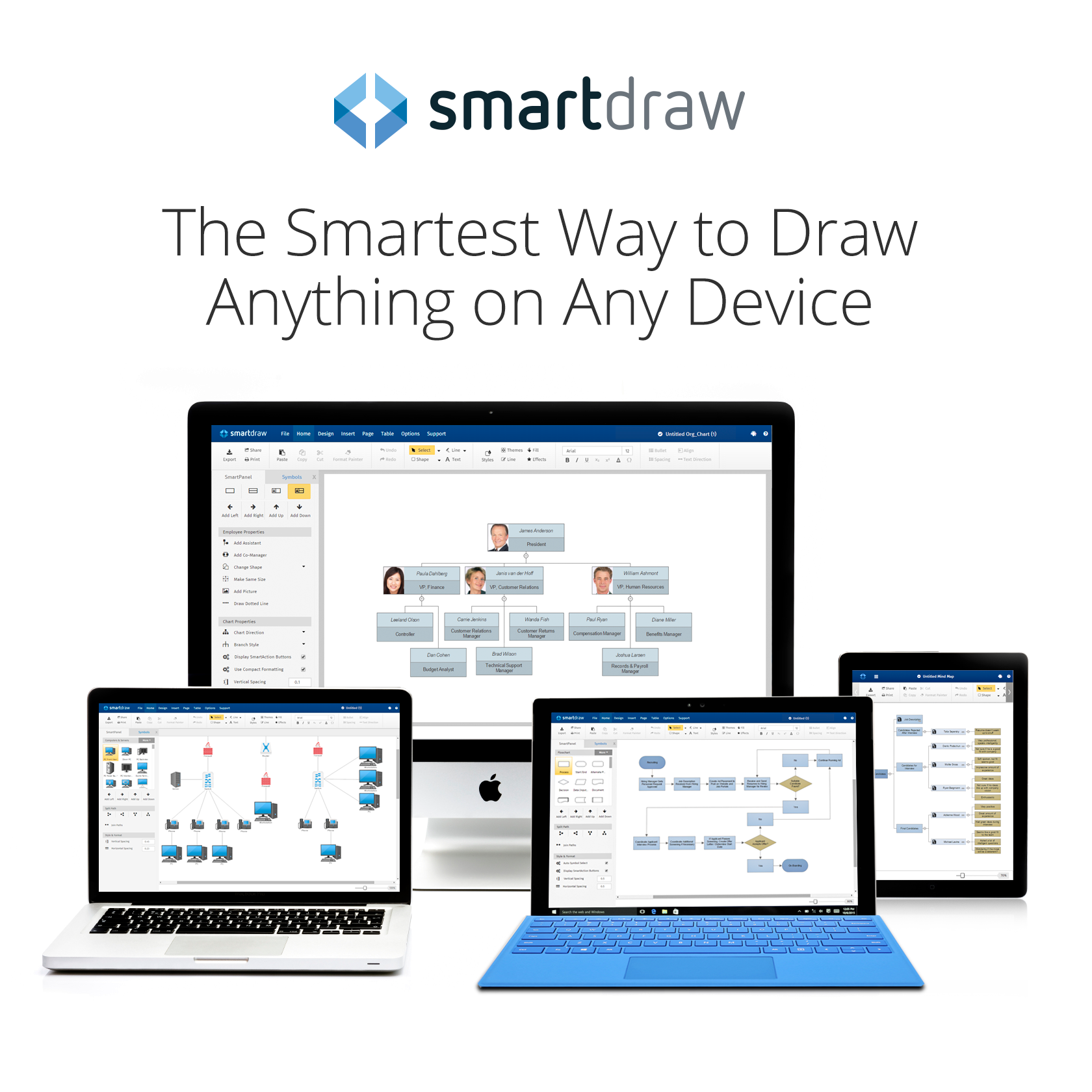 download smartdraw on multiple devices with logo - Smartdraw Software Llc