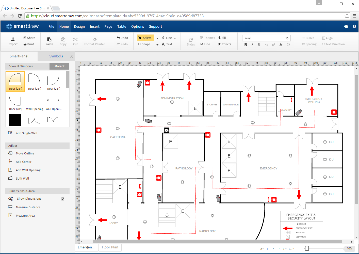 Draw Floor Plan Online Logos Amp Images Smartdraw Software