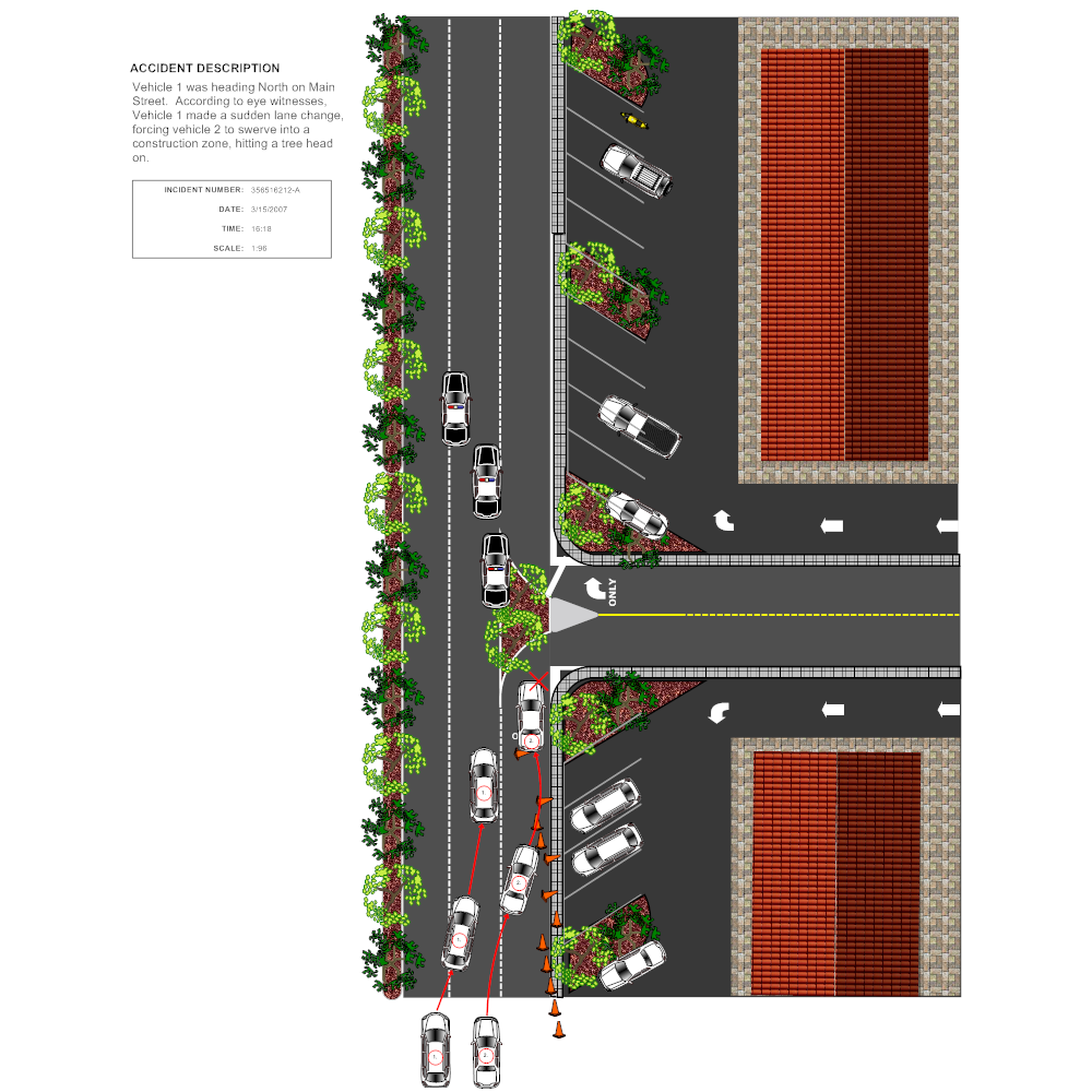 Example Image: Street Accident Reconstruction