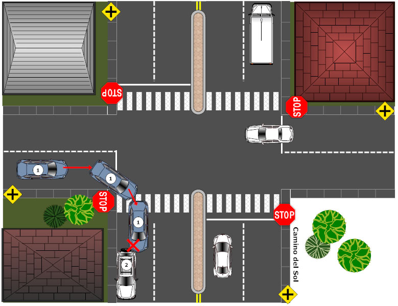 Accident reconstruction diagram example