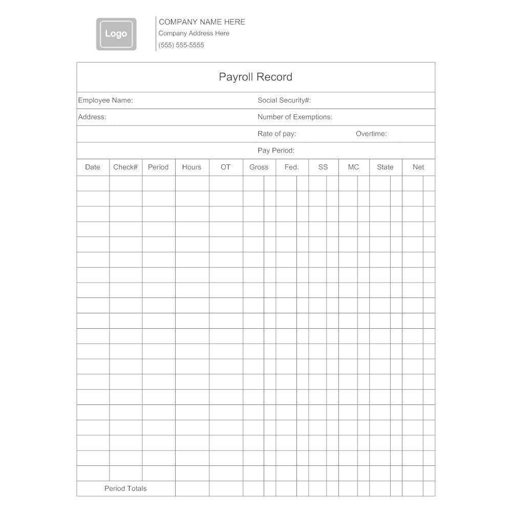 Payroll Record Form Akbaeenw