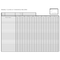 examples of attendance sheets