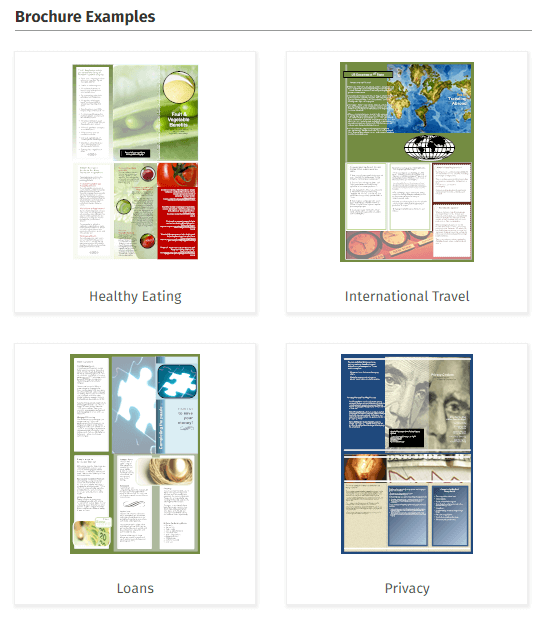 Brochure Design Software - Online Brochure Designer & Download