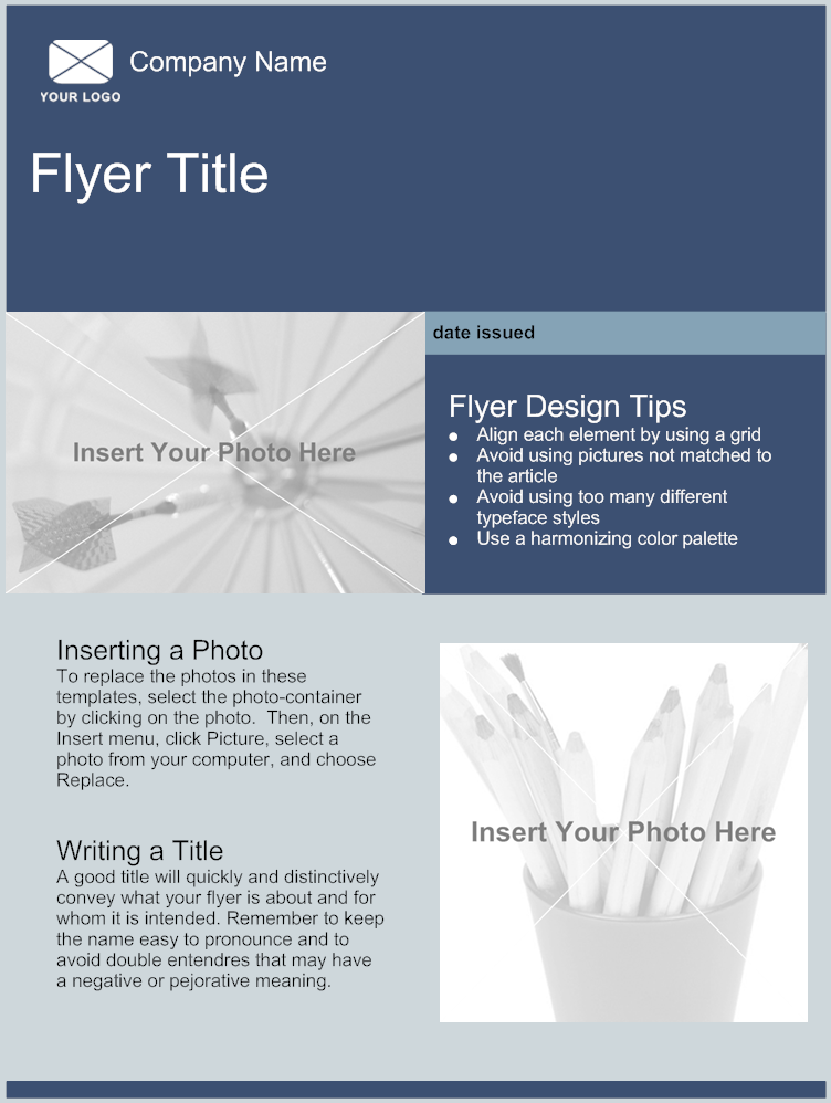 flyer template With templates for flyers and brochures free