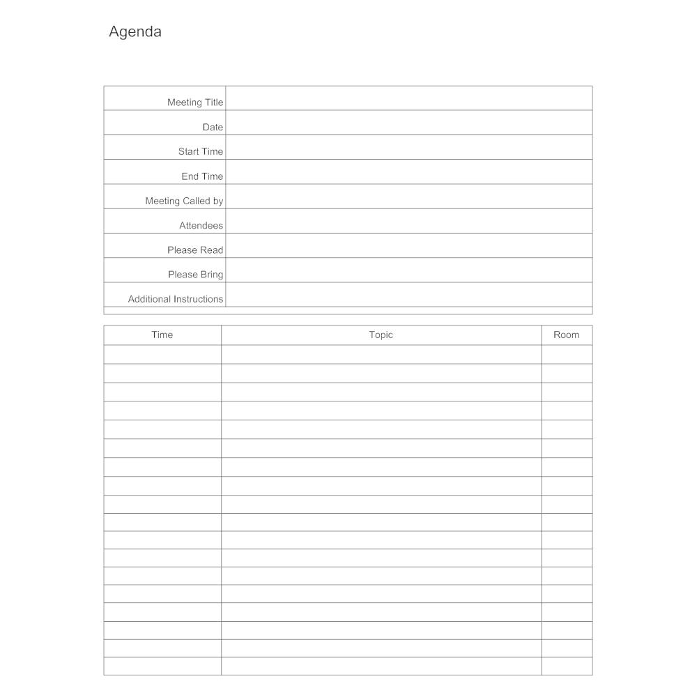 Meeting Agenda Template – Agenda Form