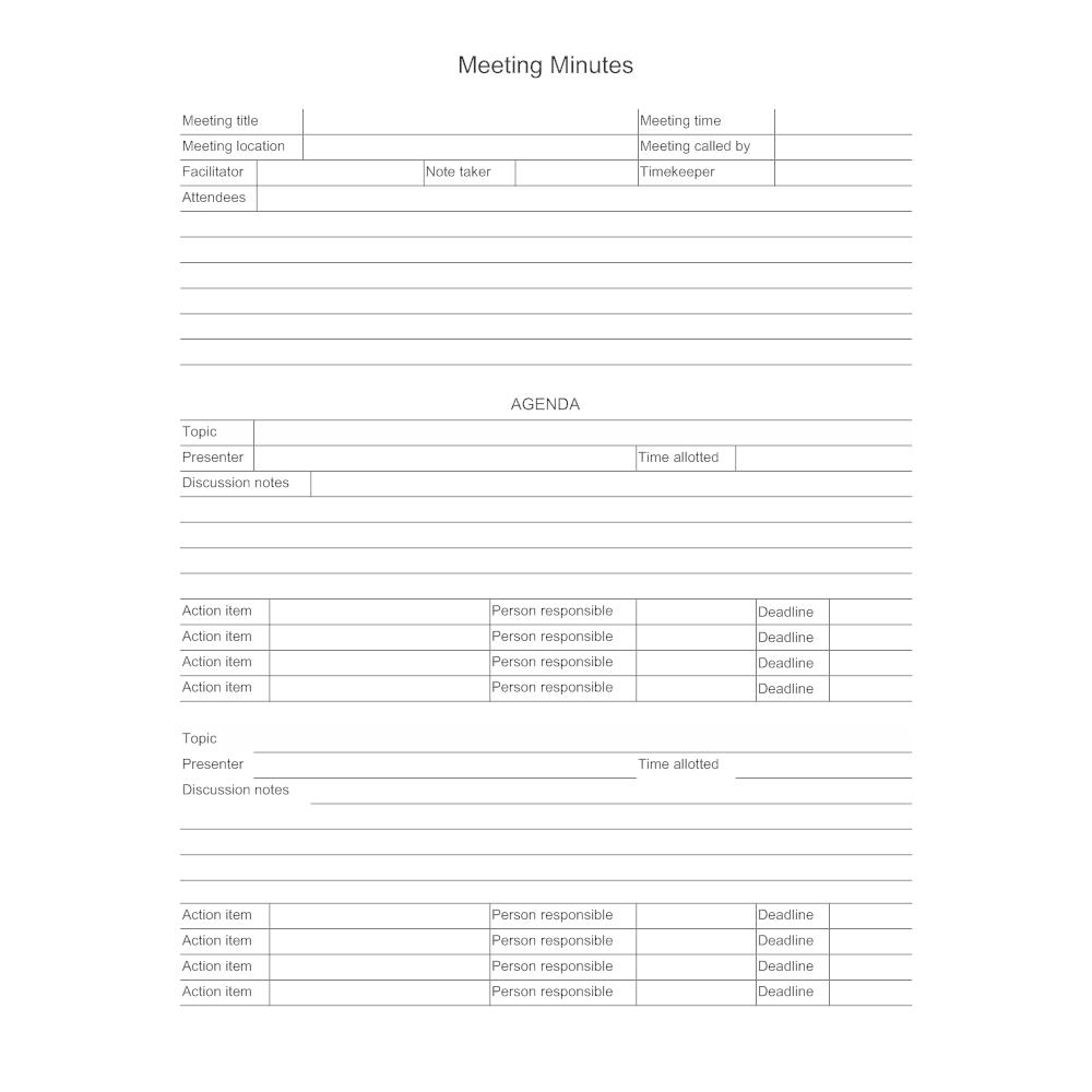 meeting minutes vs meeting notes