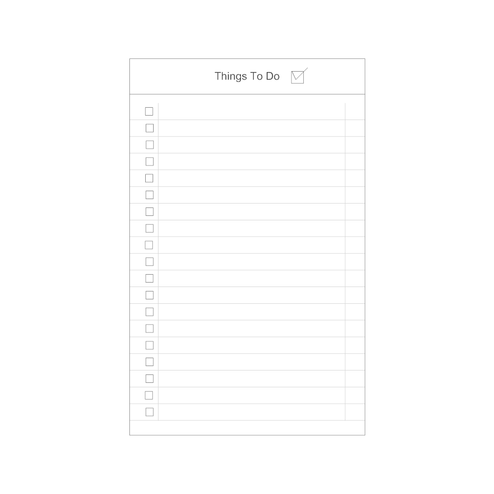 to do list examples