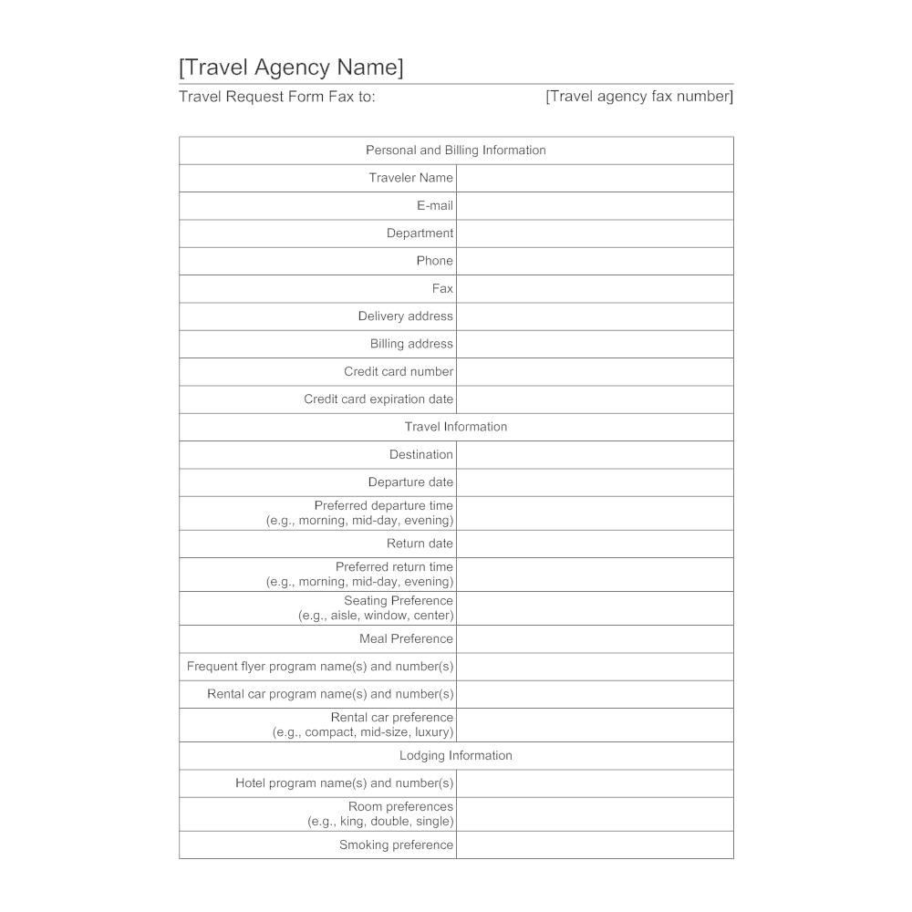 Travel Agent Forms Elitadearest