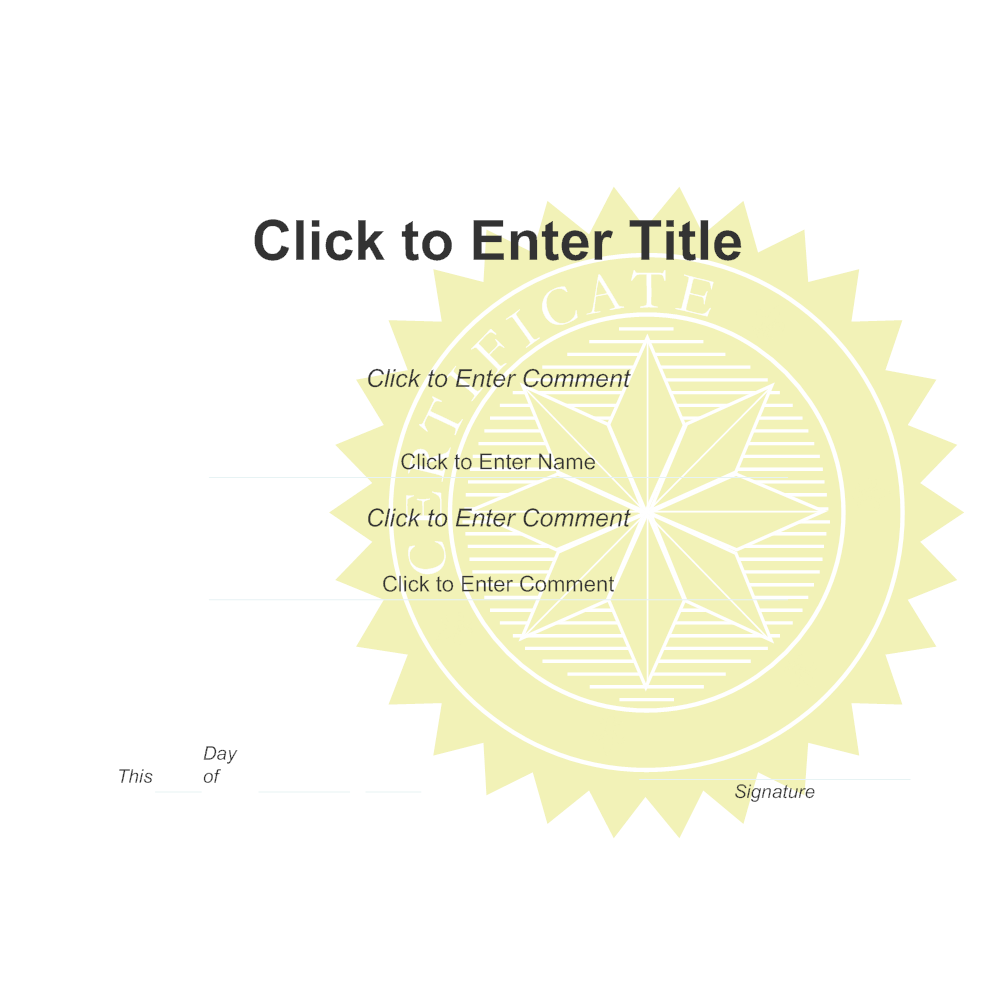 Example Image: Certificate Template