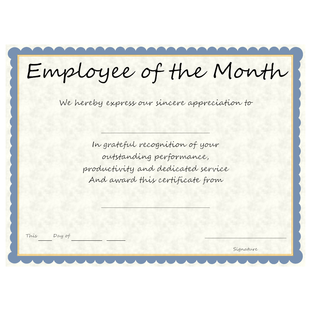 employee of the month example