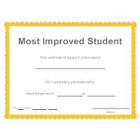 most improved certificate template free