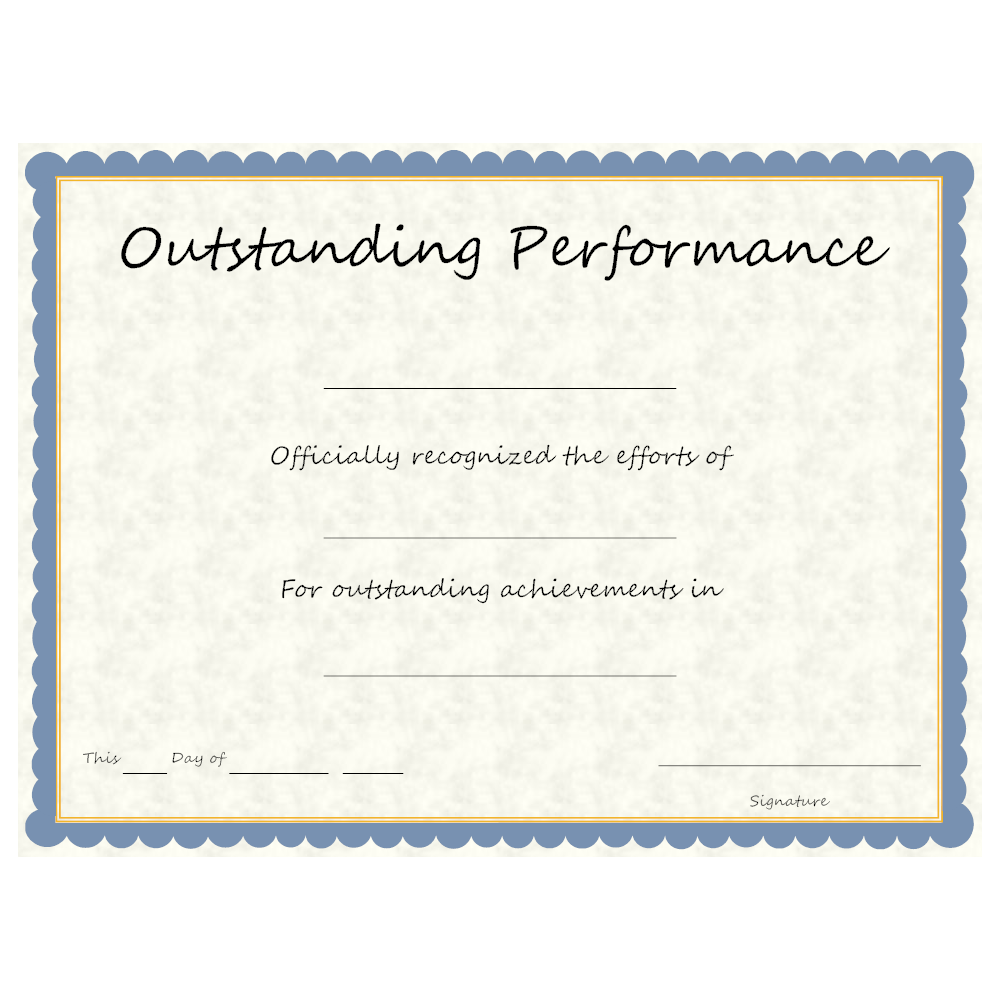 Example Image: Outstanding Performance Award