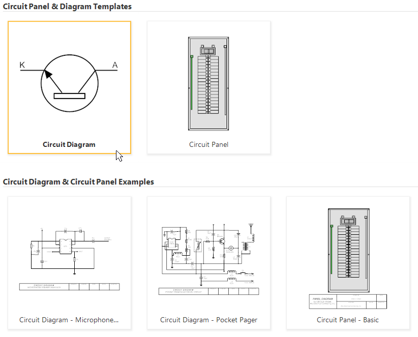 Electrical Diagram Templates