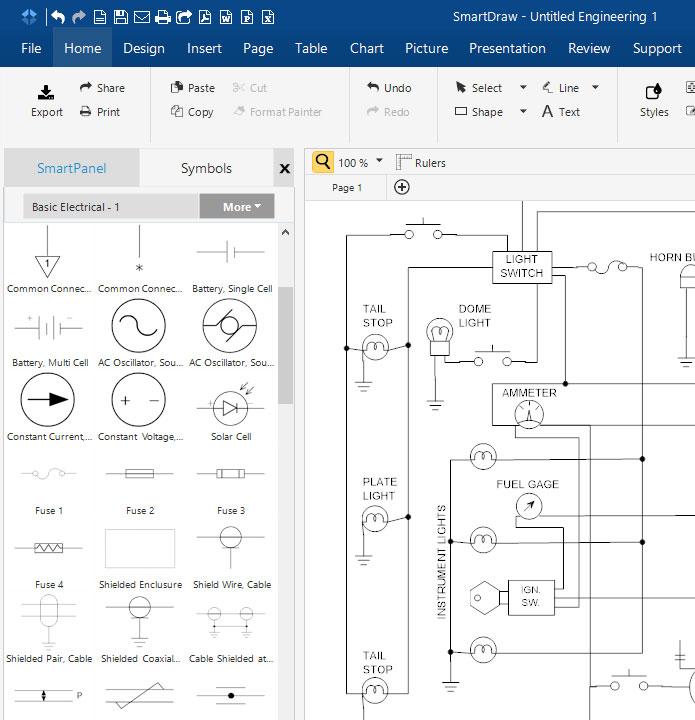 circuit diagram maker free download online app rh smartdraw com Battery Symbol Circuit Diagram Battery Circuit Diagram