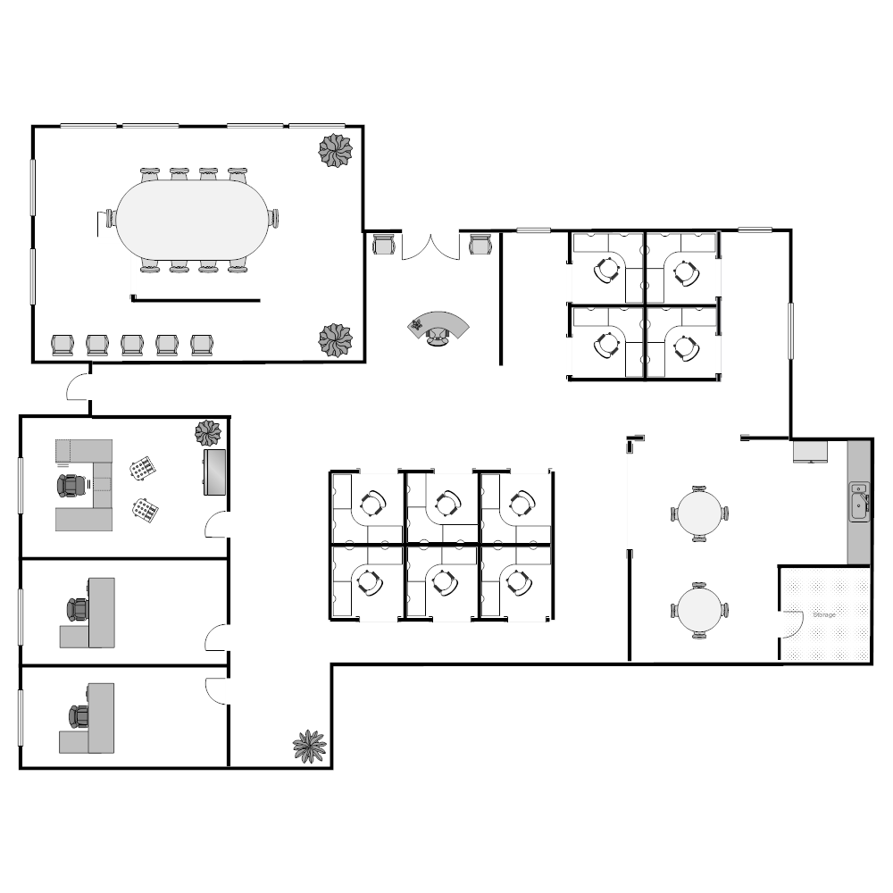 Floor plan templates draw floor plans easily with templates for Office layout design online