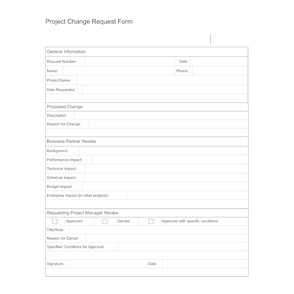project change form