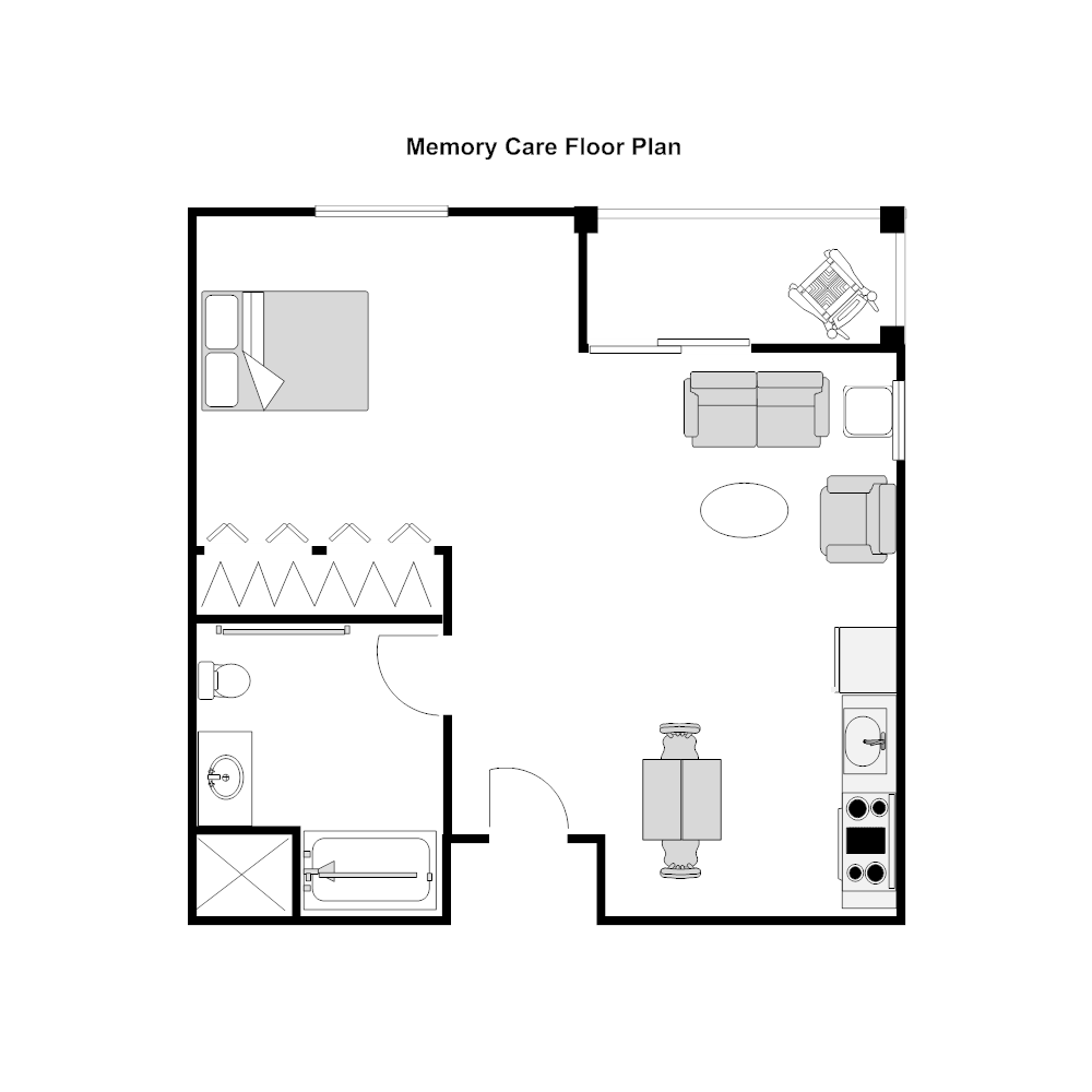 Nursing home unit floor plan Edit floor plans online
