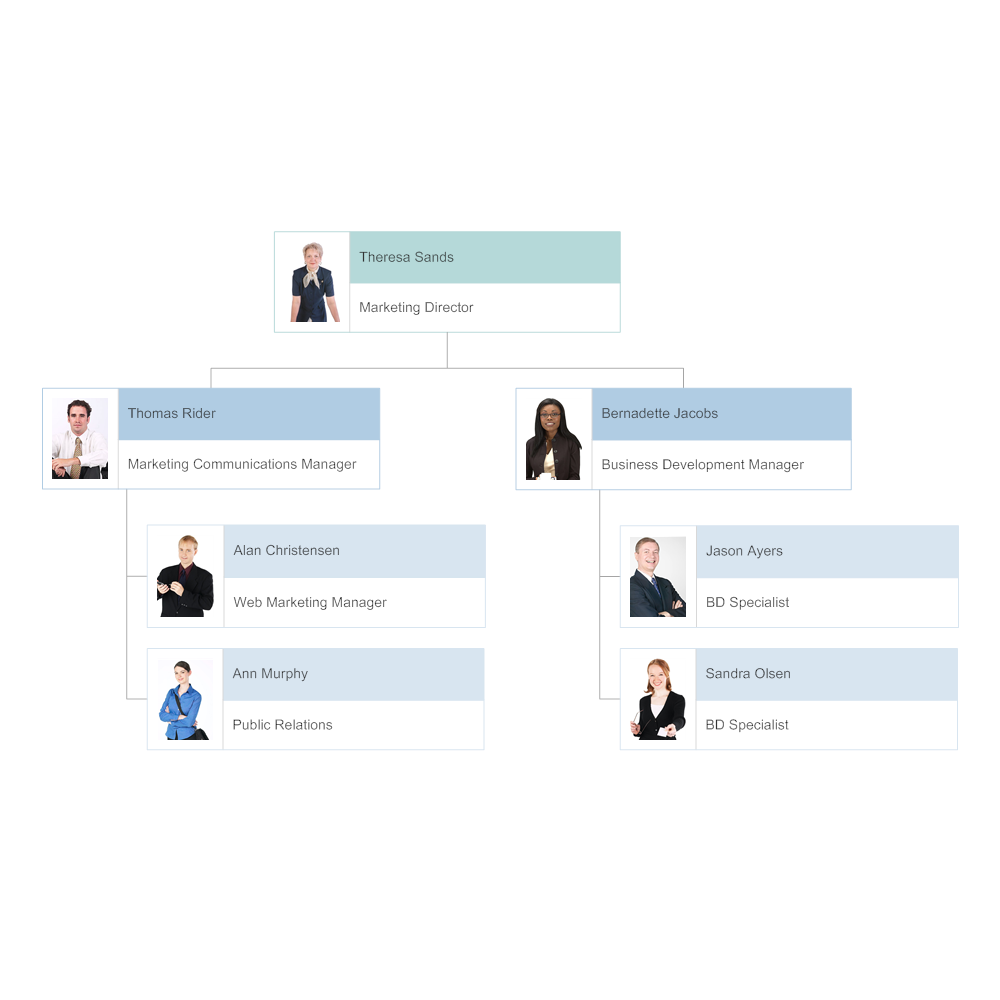 Organizational Chart Template - Create Organization Charts ...