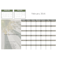 Flower Monthly Calendar