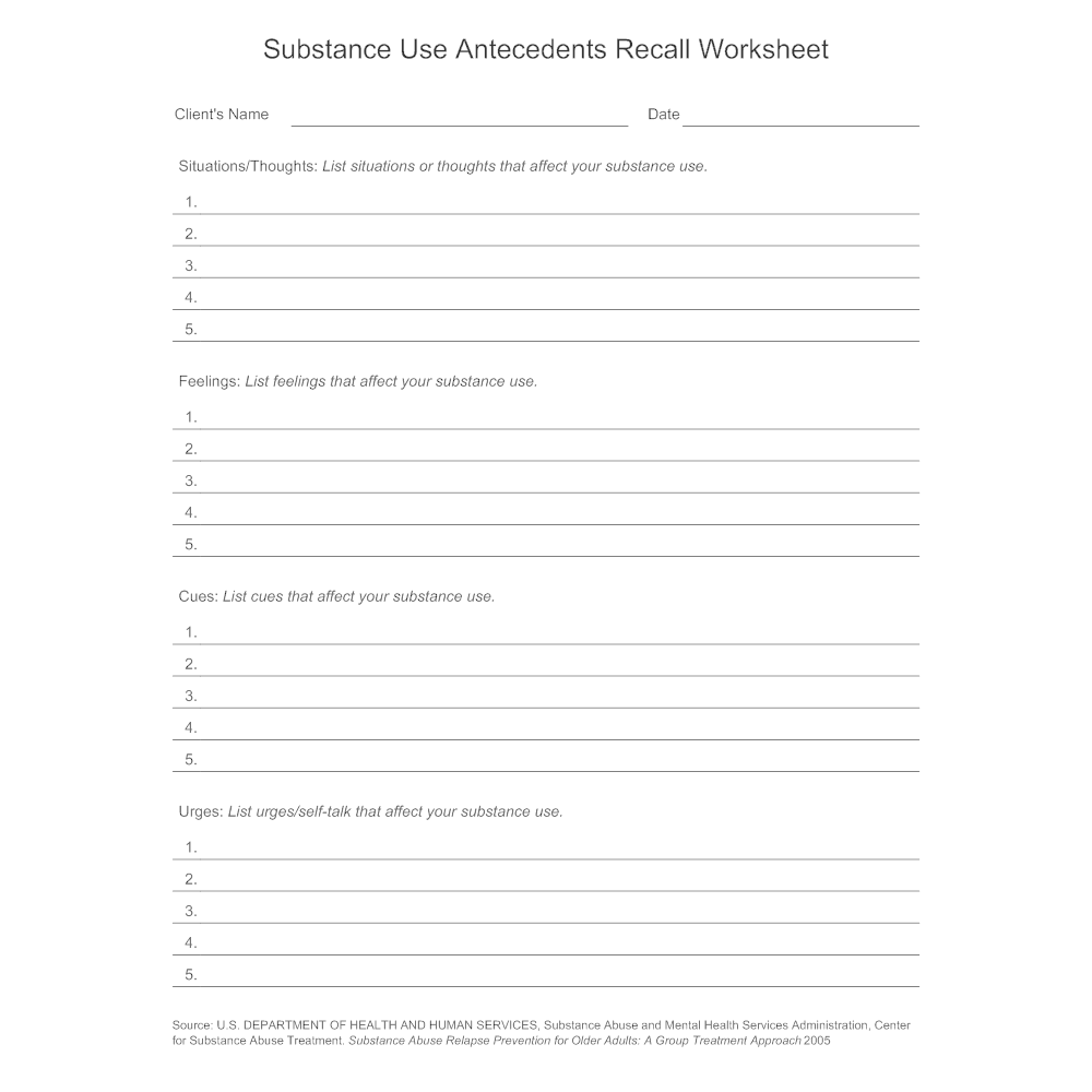 Uncategorized Substance Abuse Worksheets substance use antecedents recall worksheet pngbn1510011080 click to edit this example image worksheet