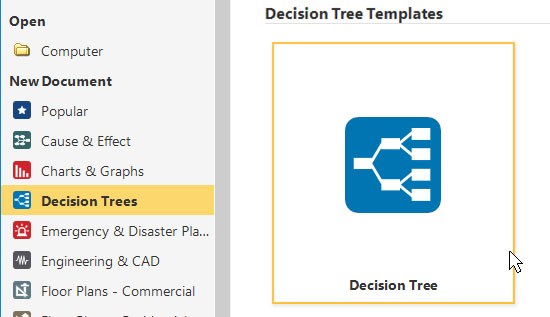 simple decision tree infographic