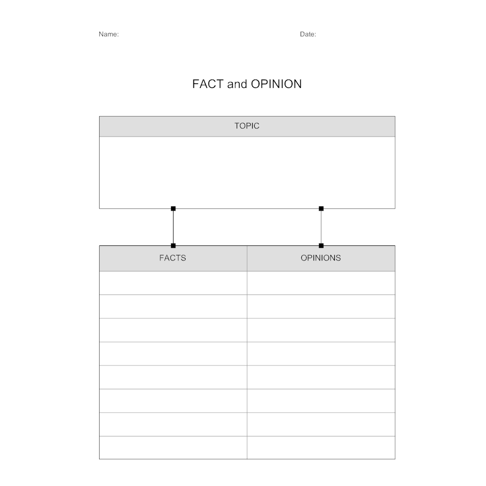 Fact and Opinion Worksheet – Facts and Opinions Worksheet