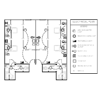 electrical plan templates rh smartdraw com electrical floor plan with power layout details