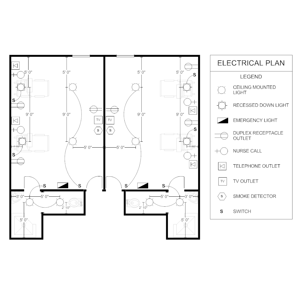 Electrical Plan Jpeg House Wiring Diagram Most Commonly Used For Home Patient Room