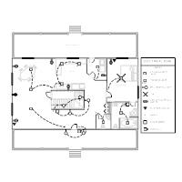 electrical plan templates rh smartdraw com electrical floor plan with legend electrical plan layout with legend