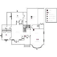 Electrical plan examples house plan with security layout malvernweather Choice Image