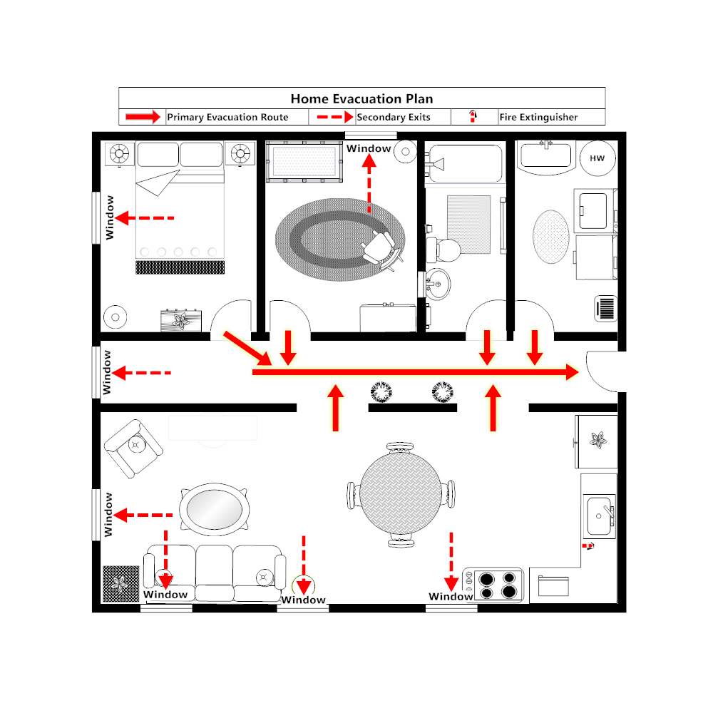 Example Image: Home Evacuation Plan - 1