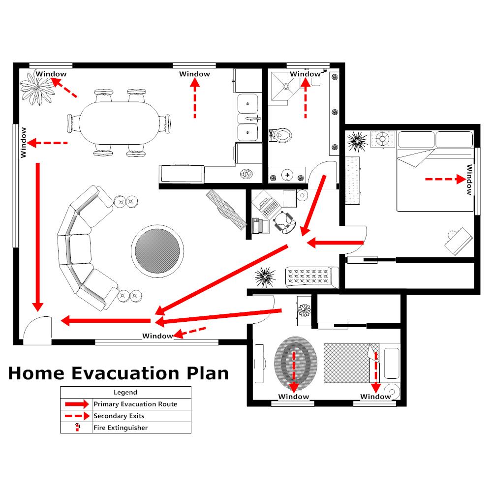Home Evacuation Plan 2 – Evacuation Plan Template