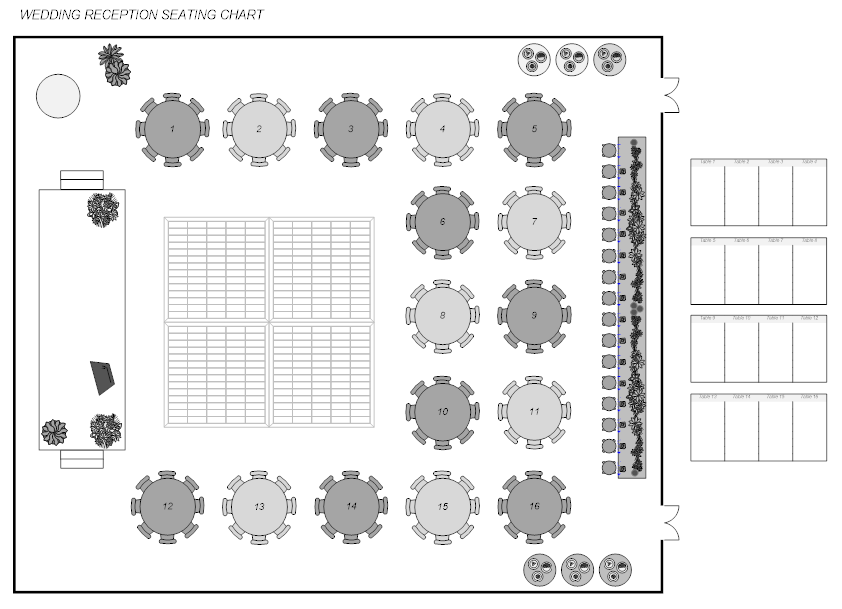 Event plan seating chart