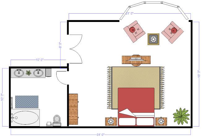 Superior Floor Plan Furniture Idea