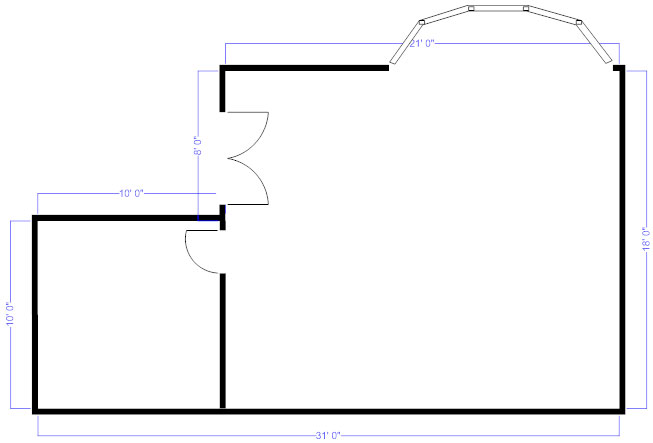 Simple Bedroom Blueprint floor plans - learn how to design and plan floor plans