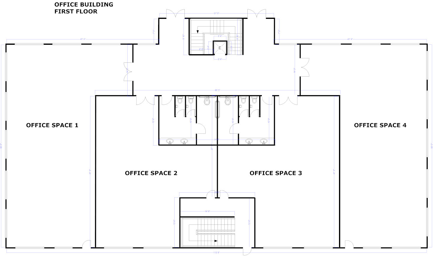 Blueprint maker free download online app some blueprint examples included with smartdraw blueprint house design malvernweather Images