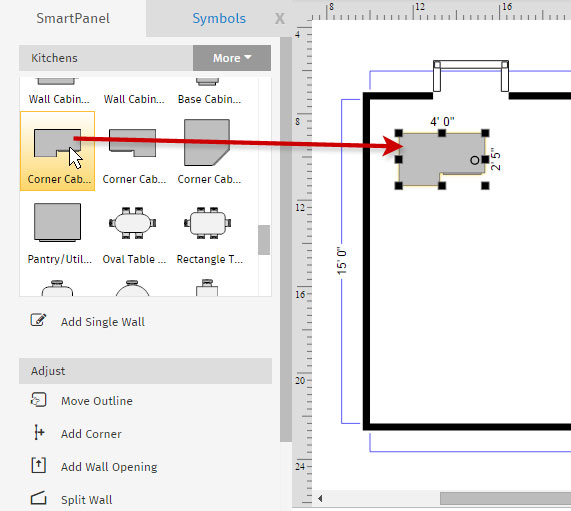 Marvelous How To Draw A Floor Plan With Smartdraw Create Floor Plans Download Free Architecture Designs Rallybritishbridgeorg