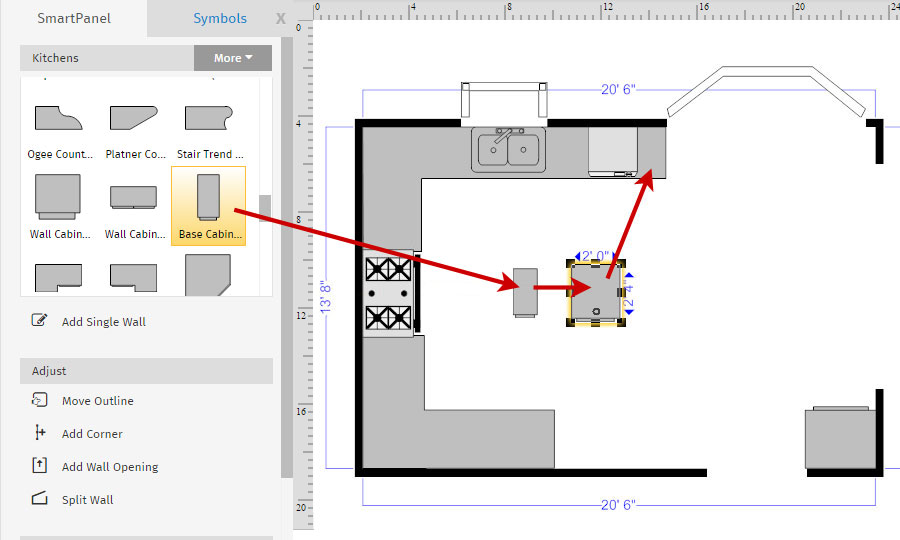 How to draw a floor plan with smartdraw floor plan custom cabinet malvernweather Images