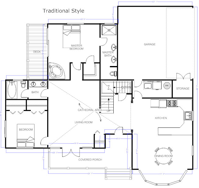 Floor plans learn how to design and plan floor plans for Small 3 4 bathroom floor plans