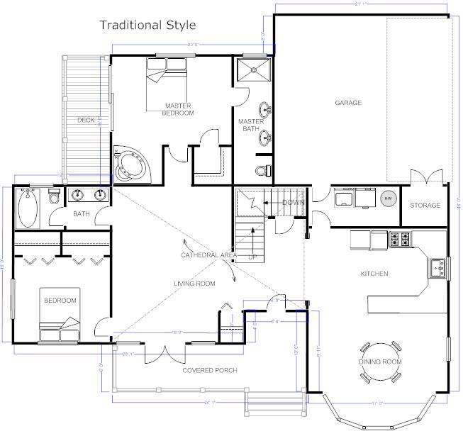 Home Design Drawing Part - 42: Floor Plan Example