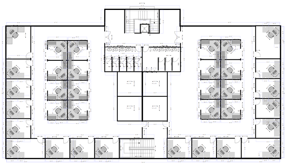 Floor plan made with SmartDraw's floor plan maker