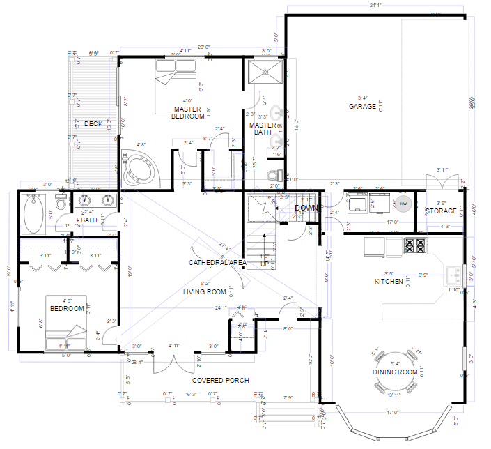 Drafting software try it free smartdraw floor plan example malvernweather Choice Image