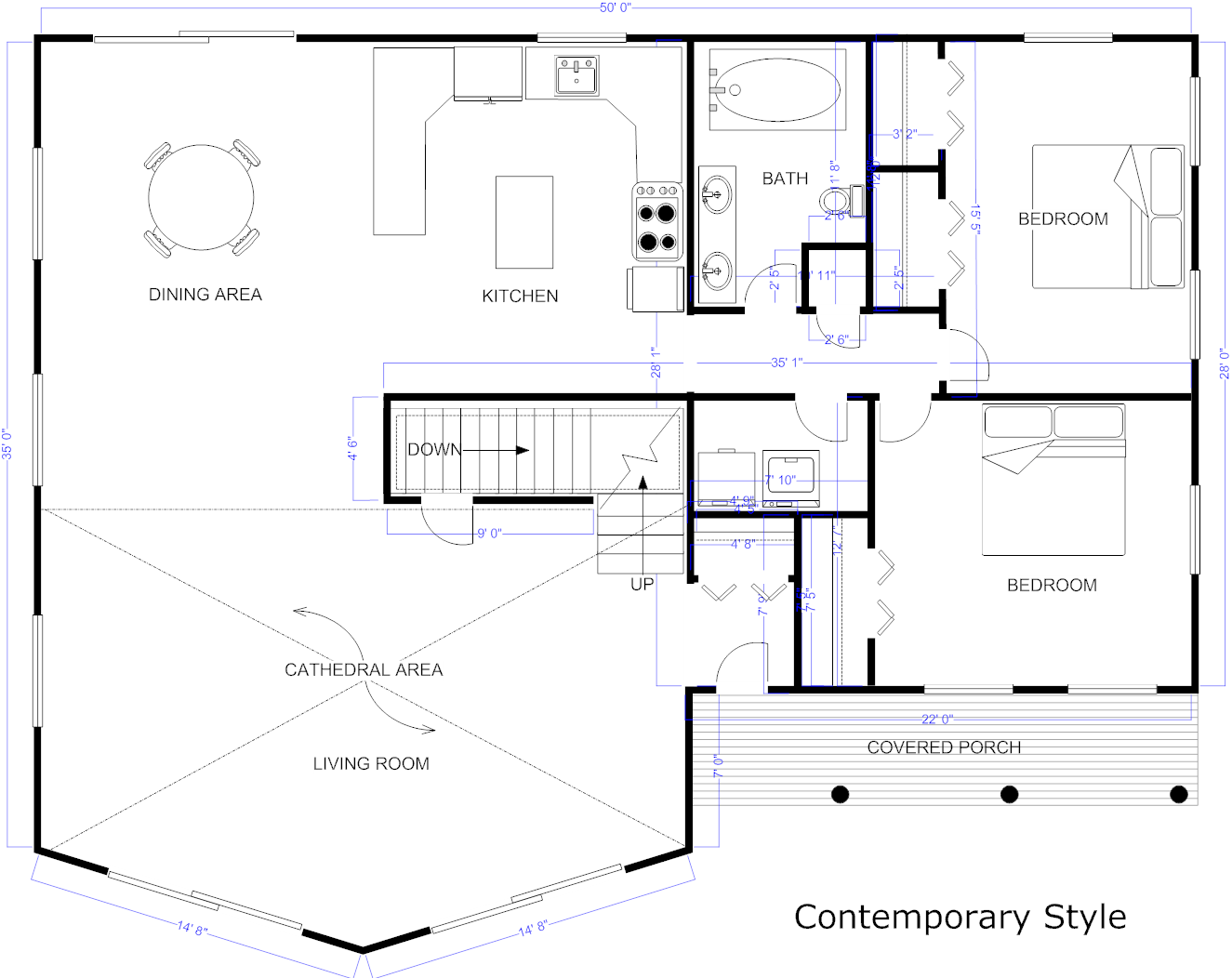 blueprint house design - How To Draw A Blueprint For A House