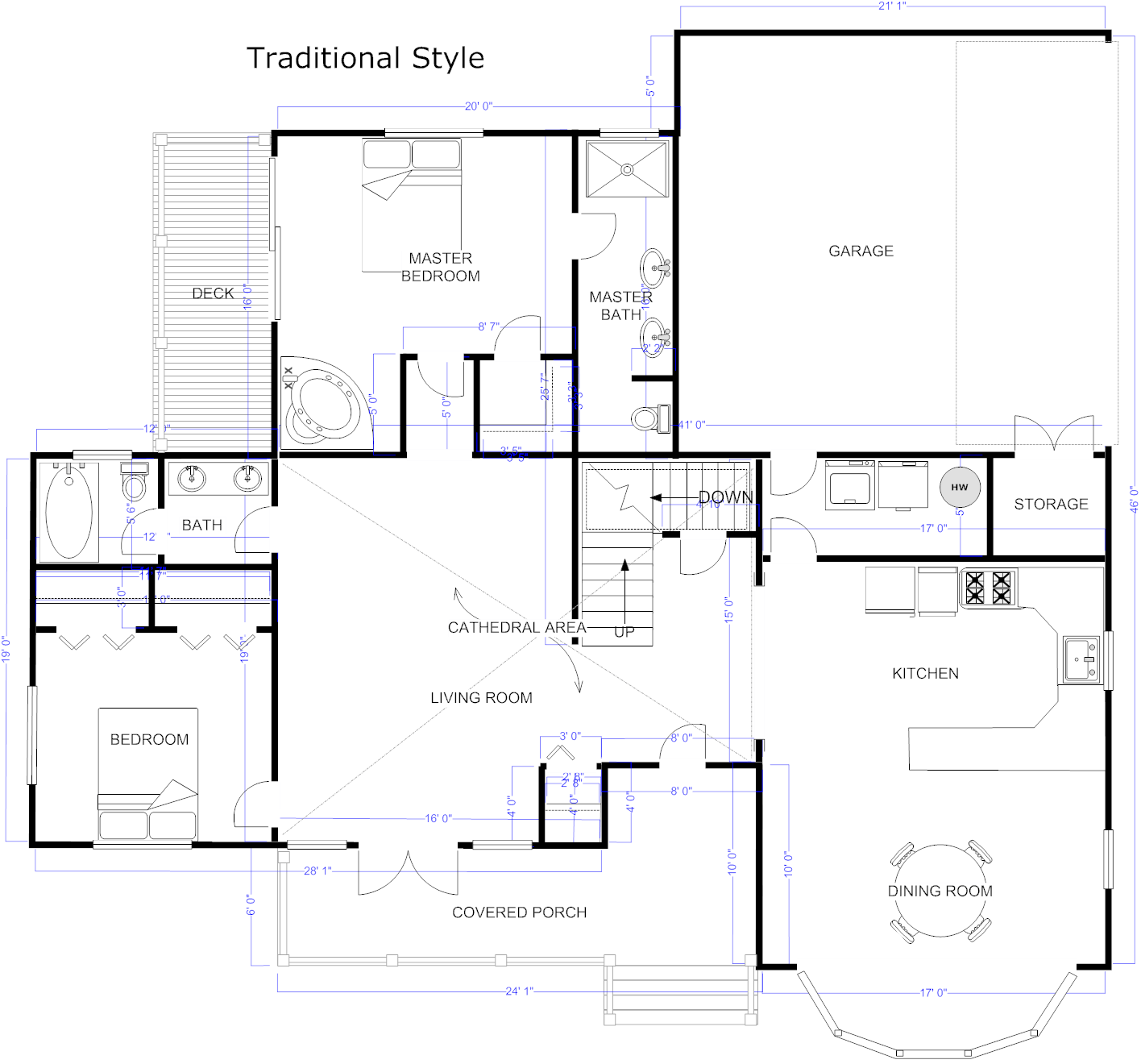 Floor plan maker draw floor plans with floor plan templates House blueprint maker