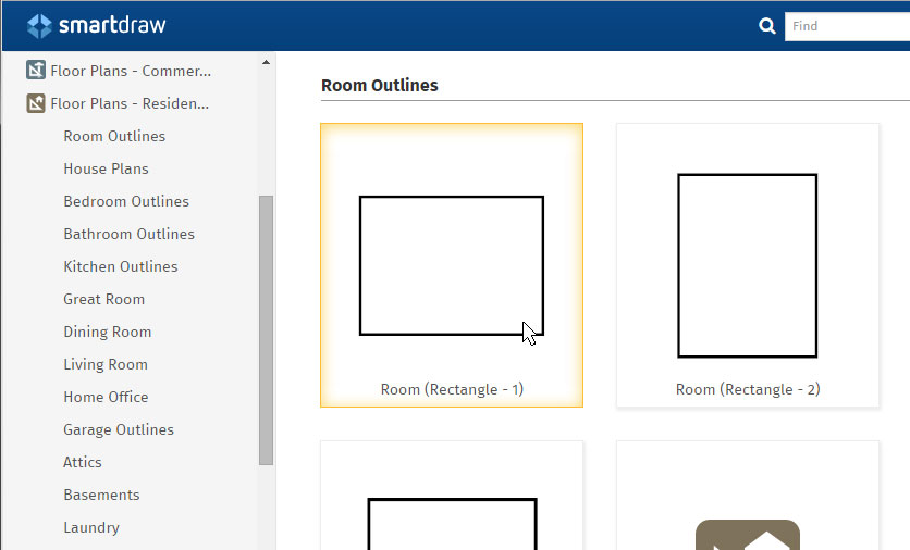 How to draw a floor plan with smartdraw for Floor layout template