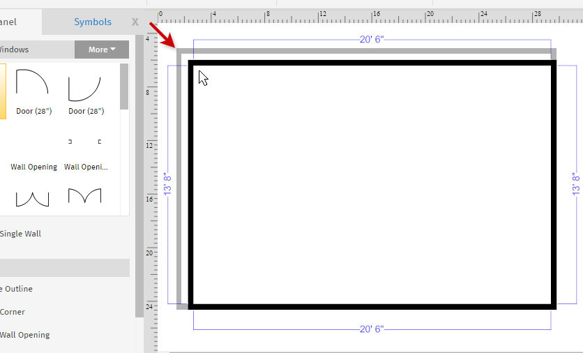 how to draw a floor plan with smartdraw rh smartdraw com room blueprint maker free room diagram maker free online