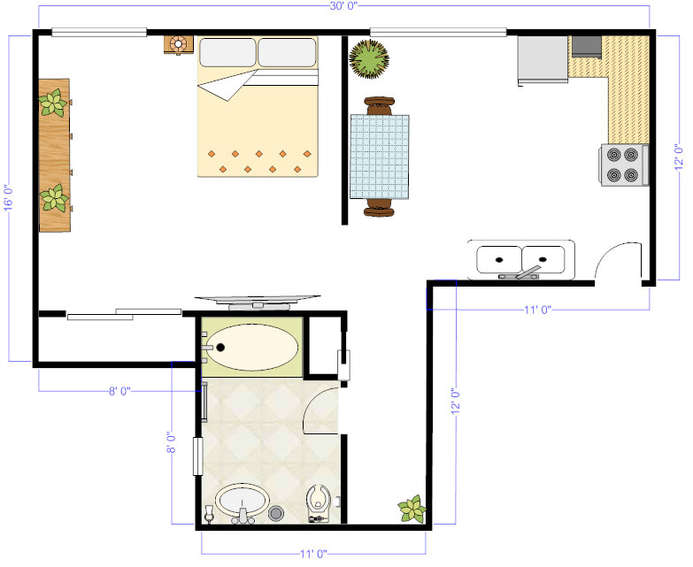 Amazing Studio Floor Plan