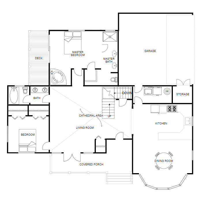 Floor plan creator and designer free online floor plan app for Online bedroom planner