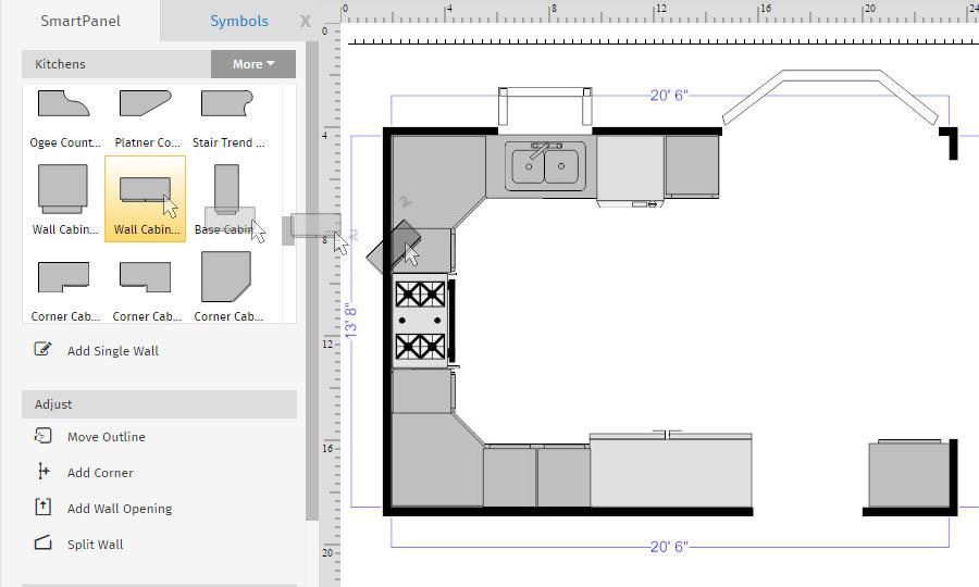 draw floor plans. Floor Plan Upper Cabinets Draw Plans A